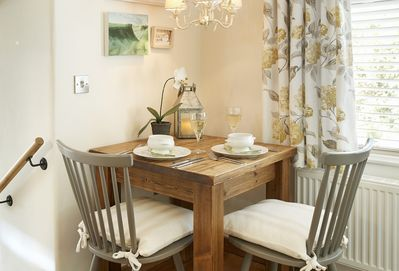 Ground floor: Perfect dining for two in this classic cottage style room
