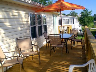 Relax on our large deck with a gas grill included...