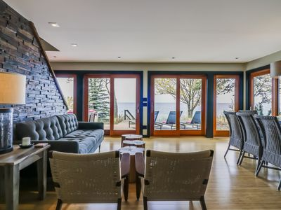 Photo for Rare opening! Modern  Lake Michigan Waterfront Cottage w/Private Beach