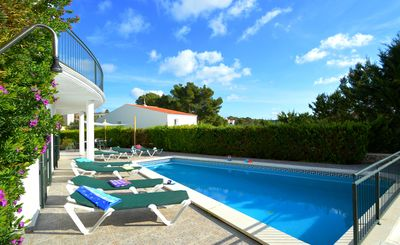 Photo for Spectacular villa with private pool a few meters from Cala Galdana