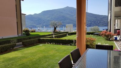 Photo for Italian Lakes ground floor apartment with pool