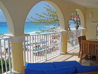 Photo for Modern Beachfront Condo with Pool - Sapphire Beach 201