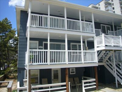 Photo for Lovely Spacious 3 BR Condo - 88th St - 100 Feet to the Beach