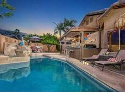 Photo for Entertaining back yard with heated pool.