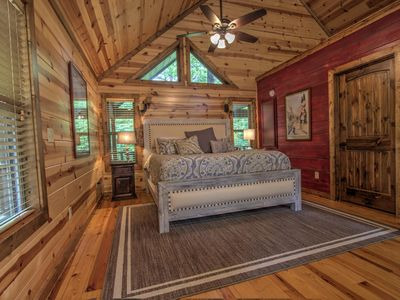 Photo for MANY MOONS- Luxury Couple's Cabin,  Hot Tub, Large Soaker Bath, WiFi, Direct TV
