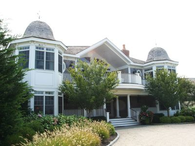 Photo for Quogue luxury gated estate home. Ocean, pool, tennis. Perfect for large family