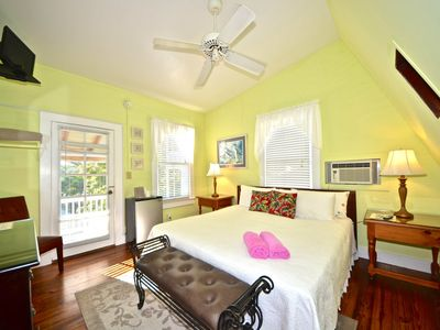 Photo for Beautiful top-floor room in historic inn w/ a shared pool & a semi-private deck!