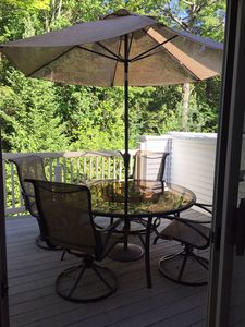 Great outdoor dining & seating deck space