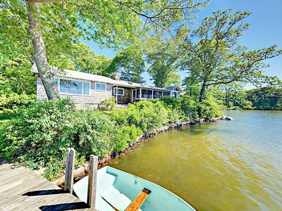 Photo for Classic 4BR Summer Home on Oyster Pond – Private Dock & Boat Fleet