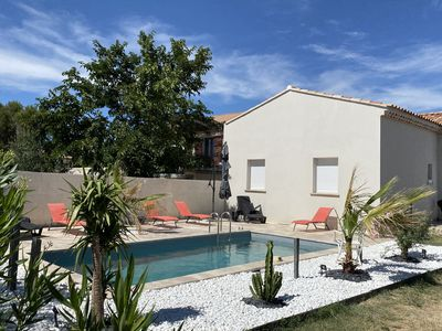 Photo for CONTEMPORARY AIR CONDITIONED VILLA AT THE FOOT OF MONT VENTOUX
