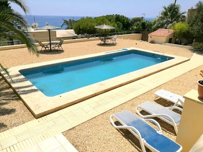 Photo for Superb villa with spectacular views, private pool, 10 pers., A/C, WiFi, BBQ