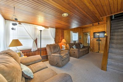 Look forward to relaxing on one of the comfy couches in the living area.