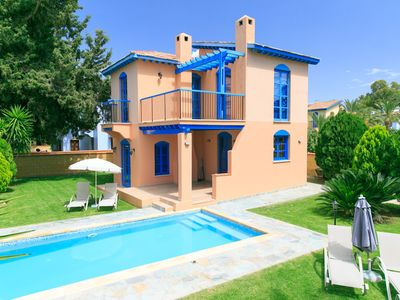 Photo for Villa Dimitra - Villa With WIFI, A/C, Close To Beach, BBQ & Private Pool.