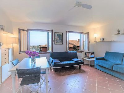 Photo for Bright Holiday Apartment with Wi-Fi, Balcony and Pool, Close to the Beach
