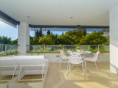 Photo for Golden Mile apartment w/ terraces, shared pool, jacuzzi, free WiFi