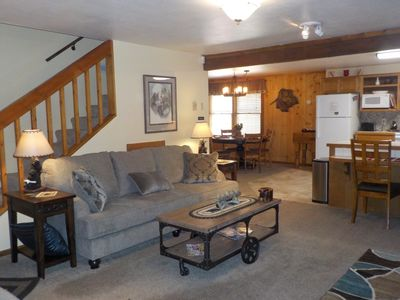 COZY GREAT ROOM WITH NEW FURNITURE AND OPEN CONCEPT TO KITCHEN/DINING