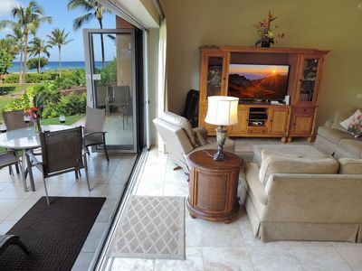 Photo for ~ Hk's Finest ~ Ground Floor 3 BEDROOM Ocean View SUITE 104 Hokulani 99 steps to the beach!