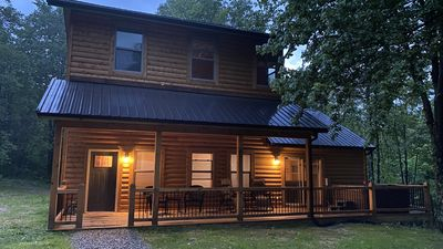 Photo for NEW! Cabin in Hocking Hills with Hot tub, Corn hole, Grill & 66 Acres of Hiking