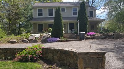 Photo for Rock on front deck,  Private Home, easy access to beaches, Newport, Wickford