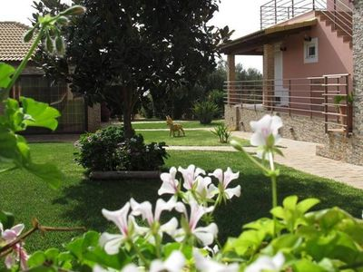Photo for Comfy nest in a garden, 1.5km to the sandy beach