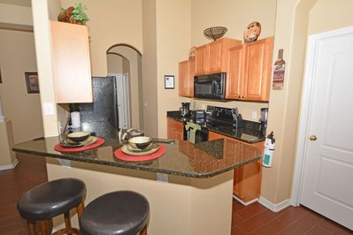 Kitchen with breakfast seating area