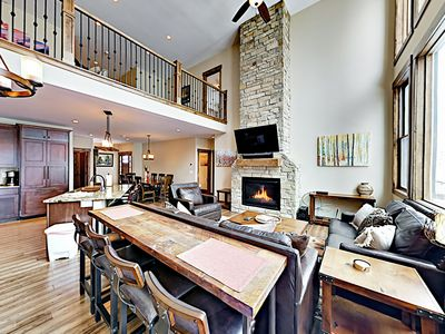 Photo for New Listing! Stylish Duplex w/ Private Hot Tub & Sweeping Mountain Views