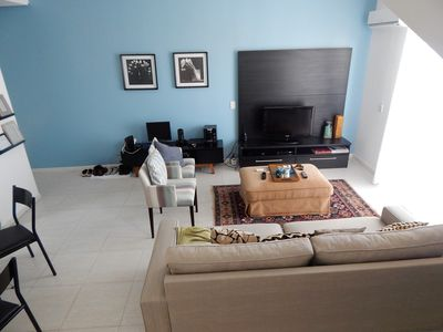Photo for Broad coverage with 3 bedrooms (suites), duplex on the beach of Jurerê