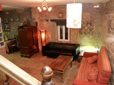Photo for Rural house and 2 rural apartments with pool, solarium, fireplace and barbecue.