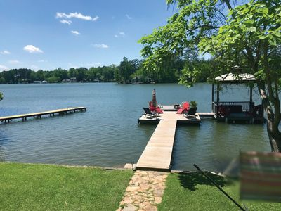 Photo for NEW Outdoor Area w/Stone Fireplace, TV & Outdoor Kitchen. Boat Ramp. Sleeps 14!