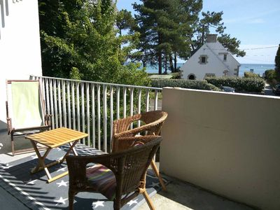 Photo for Beach Beaumer Carnac, sea view apartment
