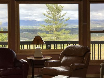 Western mountain view from living room