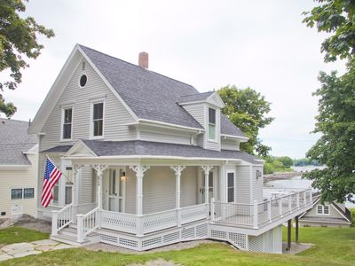Photo for HARBOR WATCH---IDYLLIC HOME WITH SWEEPING VIEWS OF GLITTERING CAMDEN HARBOR!
