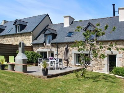 Photo for Montbretias Daou - Breton Stone cottage for 4, 1.5km from the beach