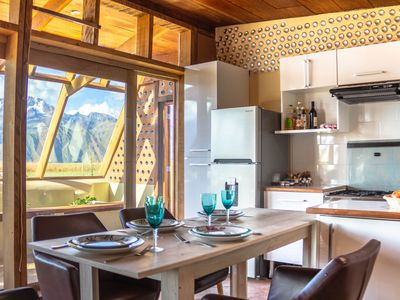 Photo for 100% ecological house with view of the Andean glaciers