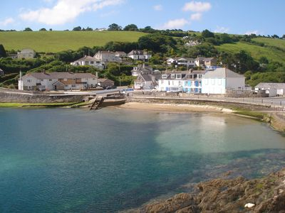 Portmellon Cove, about 60 seconds walking from the apartment !