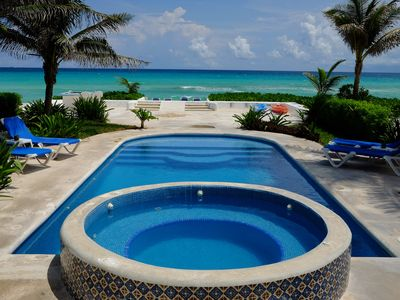 Photo for Caribbean Beach Front Villa with Private Pool and Staff! $250. F&B Included