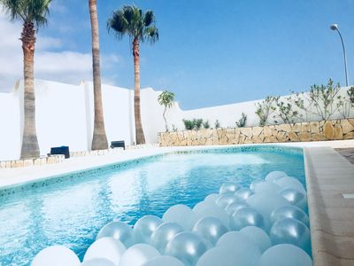 Photo for Luxurious villa, private pool, sea view, Wifi, Callao Salvaje, Tenerife south