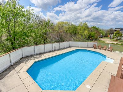 Photo for Gorgeous 5 bedroom beach house on quiet Oyster Lane, with pool!