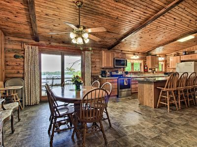 Photo for Spacious Lakefront Hines Cabin  - Pet Friendly