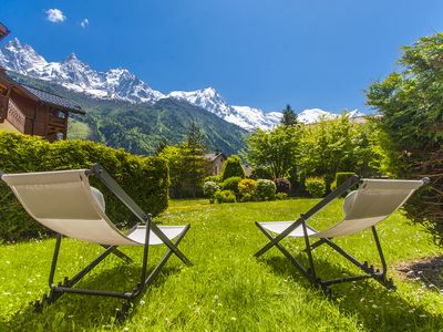Photo for 3 rooms, premium equipment, beautiful Mont Blanc view, close to slopes/center