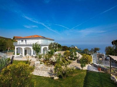 Photo for Villa Tiresia: A splendid two-story villa in a quiet position, located on a hillside above the sea, with Free WI-FI.
