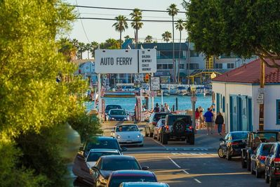 The Balboa Ferry is only steps away down Agate!