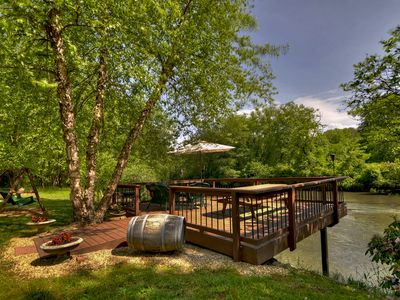 Photo for LAST MINUTE DEALS*** BOOK NOW FOR FUN & FISHING ON THE TOCCOA RIVER! SLEEPS 6-8