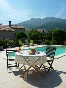 Photo for LOVELY 2 BED TRADITIONAL VILLA WITH SALT WATER POOL AND MOUNTAIN VIEWS