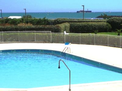 Photo for Beautiful 54m2 standing (beach at 20m) Swimming pool, quiet and secure, playgrounds,
