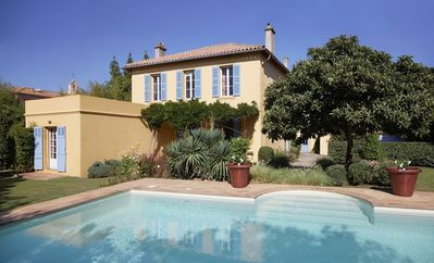 Photo for holiday vacation large villa rental france, Riviera, st. tropez, cote d\'azur, pool, wi-fi, air conditioning, walk to to