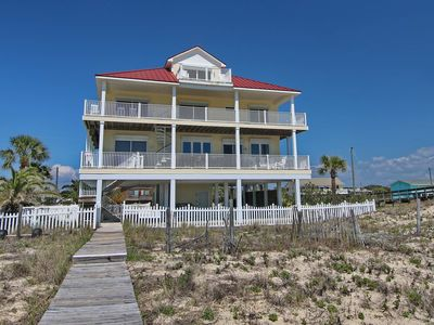 """Photo for 30% off advertised rate through May! All the amenities! Beachfront, Pool, Hot Tub, Elevator, 6BR/5.5BA """"Beach Buzz"""""""