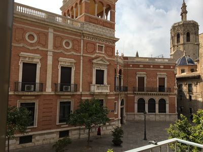 Photo for Charming apartment in the center of Valencia with views of the Cathedral.