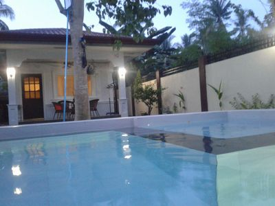 Photo for Detached Studio Bungalow with private pool near Alona beach - Sleeps 4