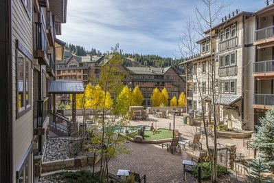 Amenities Deck- - Amenities Deck- Offers lounge seating, grills, and over sized hot tub.